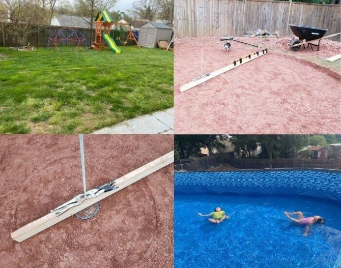 levelling above ground pool