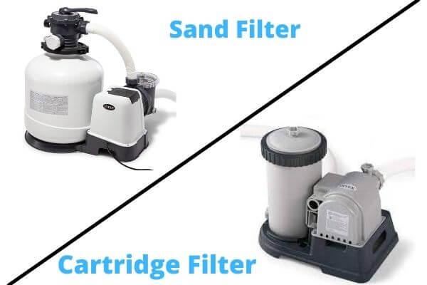 pool sand filter vs cartridge filter