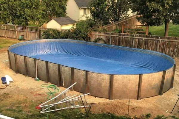 setting up an above ground pool